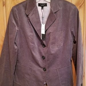 Talbots Size 6 NWT Gray Brown Jacket